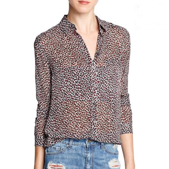 01113112c1d7d6 Light Weight Leopard Print Blouse Brand New Mango